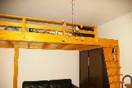 Menuiserie bois lit mezzanine